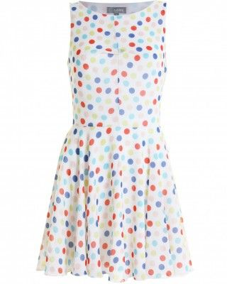 LOVE Multi Polka Dot Open Back Pleat Front Dress - In Love With Fashion