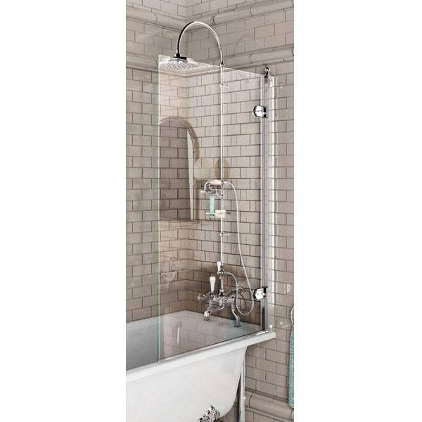Burlington - Hinged Bath Screen - 850 x 1450mm - BU43 at Victorian Plumbing UK