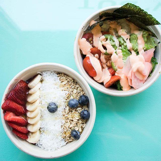 smoothie bowl & poke bowl ~ healthy meal ideas