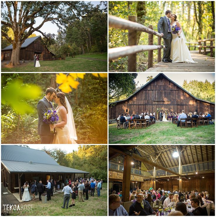 beazell memorial forest rustic barn wedding in corvallis