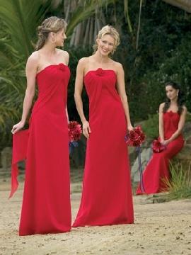 dark red bridesmaid dress