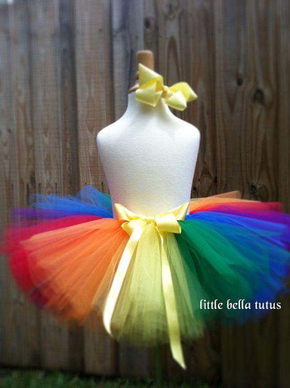 Tutu Rainbow Tutu Toddler Tutu Childrens Tutu by LittleBellaTutus - great for clown costume