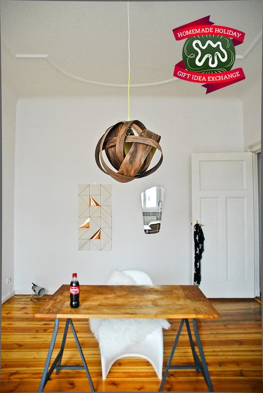 Make this homemade holiday gift wood veneer pendant lamp idea exchangeapartment therapydesign