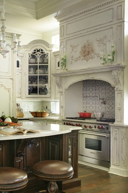 old world french country kitchens habersham featured home range hearth and island design 7166