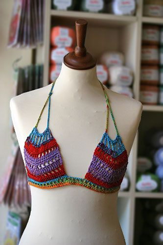 Crochet halter top, Boho, Hippie, Gipsy, Tribal, Ethnic, Sexy summer top. $35.00, via Etsy.