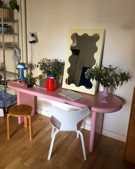 CURVY MIRROR MINI | GUSTAF WESTMAN Room Ideas Bedroom, Bedroom Decor, Pastel Interior, Aesthetic Room Decor, My New Room, House Rooms, Room Inspiration, Monday Inspiration, Decoration