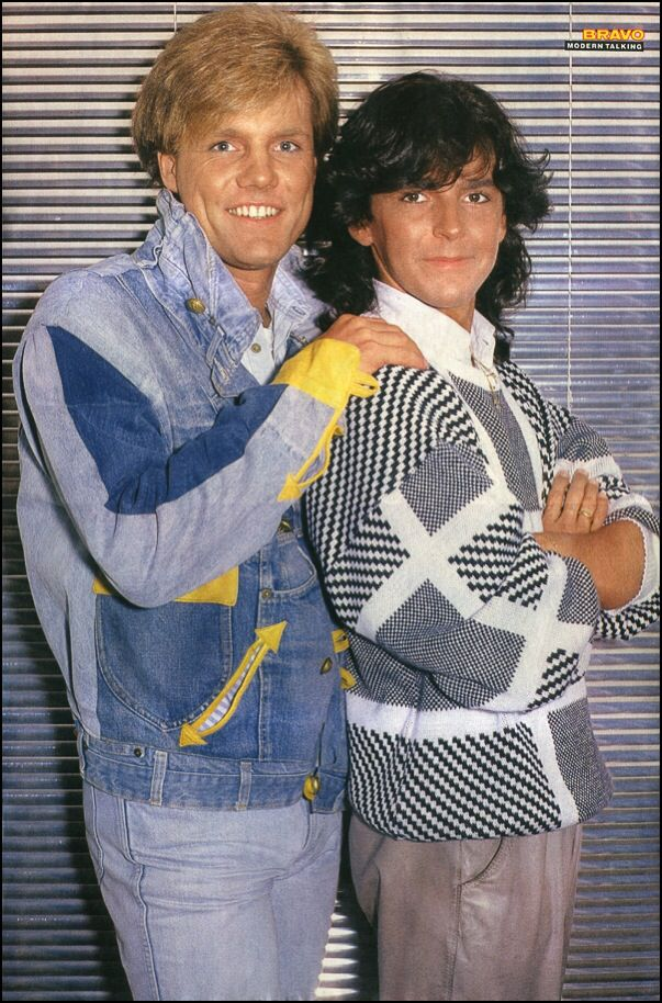 Modern Talking - Double Poster - BRAVO #27 - 27.06.1985