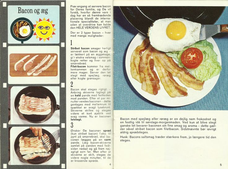 Bacon og æg.