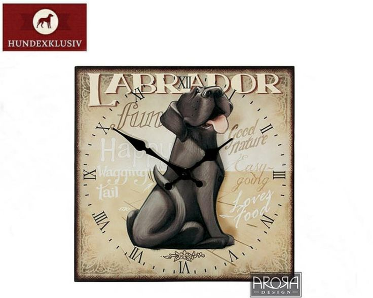 Wanduhr Labrador Braun  Die beliebte Hunderasse als Dekoration für Ihr Zuhause - Wanduhr Labrador Braun. Bei jedem Blick auf die Zeit werden Sie von einer charmanten Hundeschnute begrüßt.