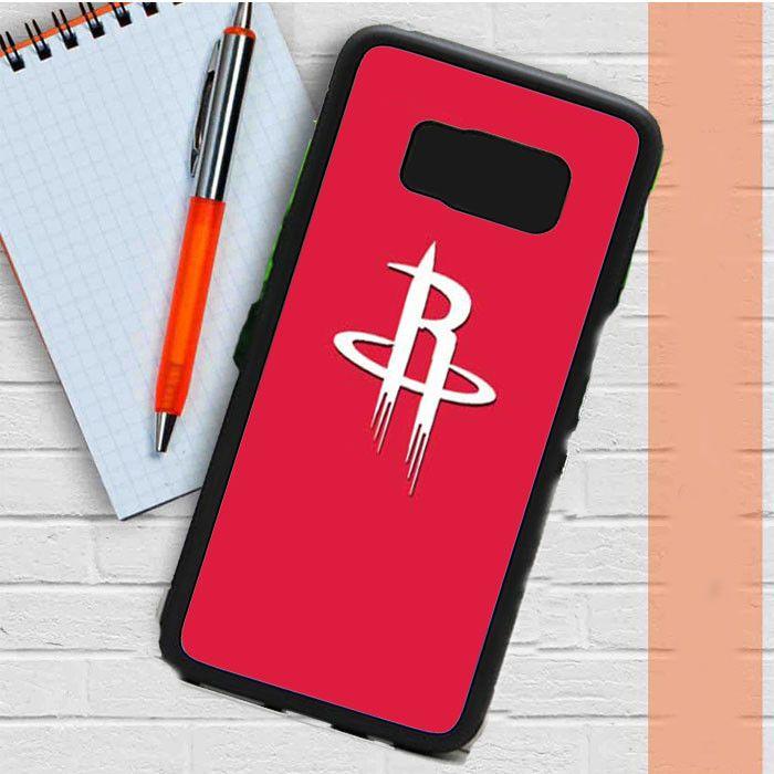 Houston Rockets Logo Over Red Samsung Galaxy S8 Plus Case Dewantary