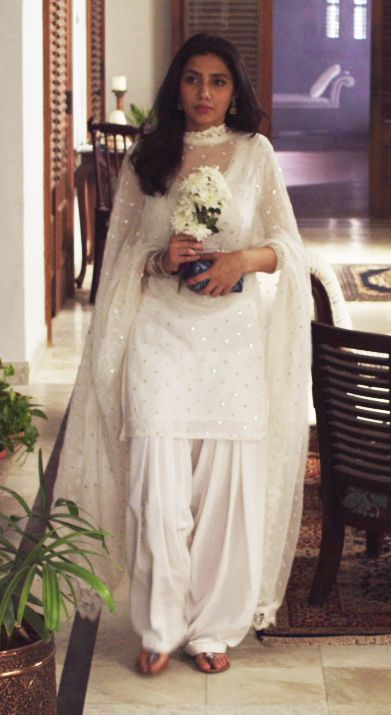Pakistani actor Mahira Khan in a still from her film Bin Roye.