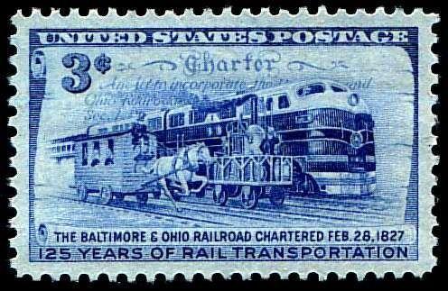 Baltimore And Ohio Railroad 1828 | BALTIMORE & OHIO RAILROAD - 125 YEARS OF RAIL TRANSPORTATION | United ...
