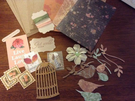 DIY Card Making Kit Make 3 Lovely Cards by SimpleTreasures03