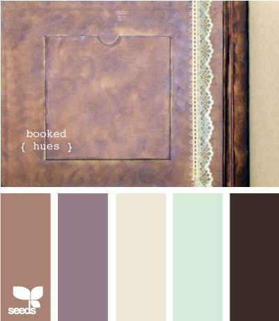 booked hues {Design Seeds]