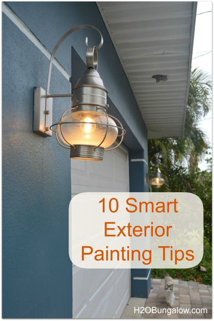 10 smart exterior painting tips a well its always and for Exterior mural painting techniques