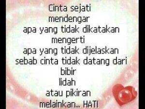 http://informasikan.com/puisi-cinta-sejati/   Cinta Sejati adalah cinta yang tulus, bersih dan tidak terlekang oleh waktu dan berbagai masalah.