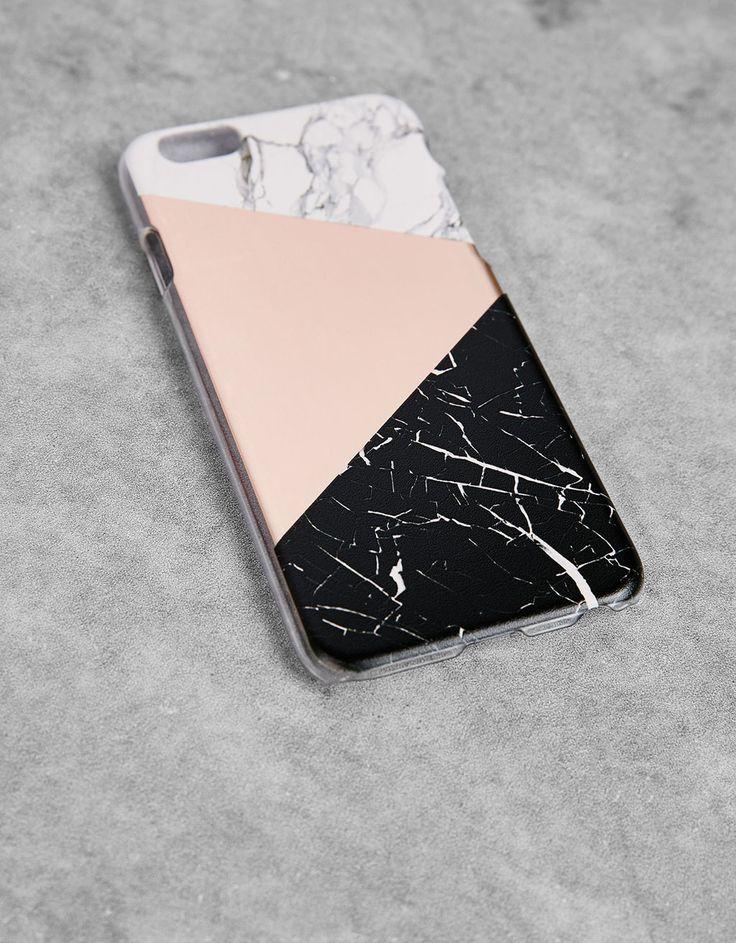 Bershka Germany - Handyhülle in Marmoroptik für iPhone 6/6s/se