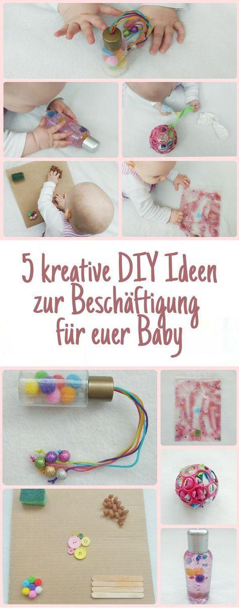 Fünf kreative selbstgemachte Spielzeuge mit denen sich euer Baby beschäftigen kann – Ideen für Aktivitäten zum fördern von Sensorik und Feinmotorik, tolle Beschäftigungsmöglichkeiten für Babys im Alter von 6-12 Monaten