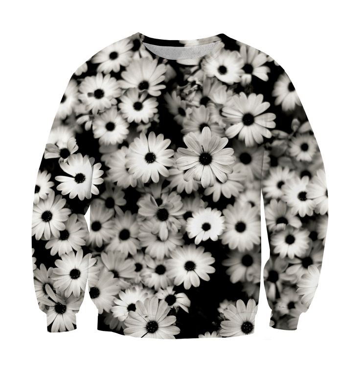 Sweatshirt black flowers