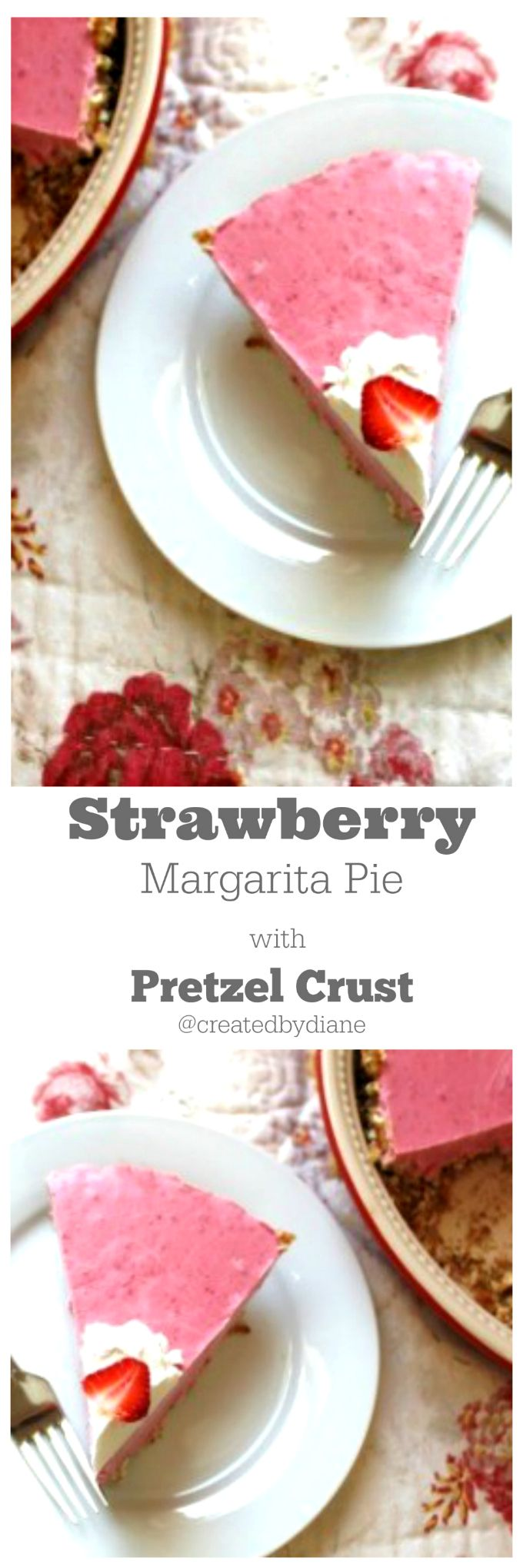 strawberry margarita pie @createdbydiane