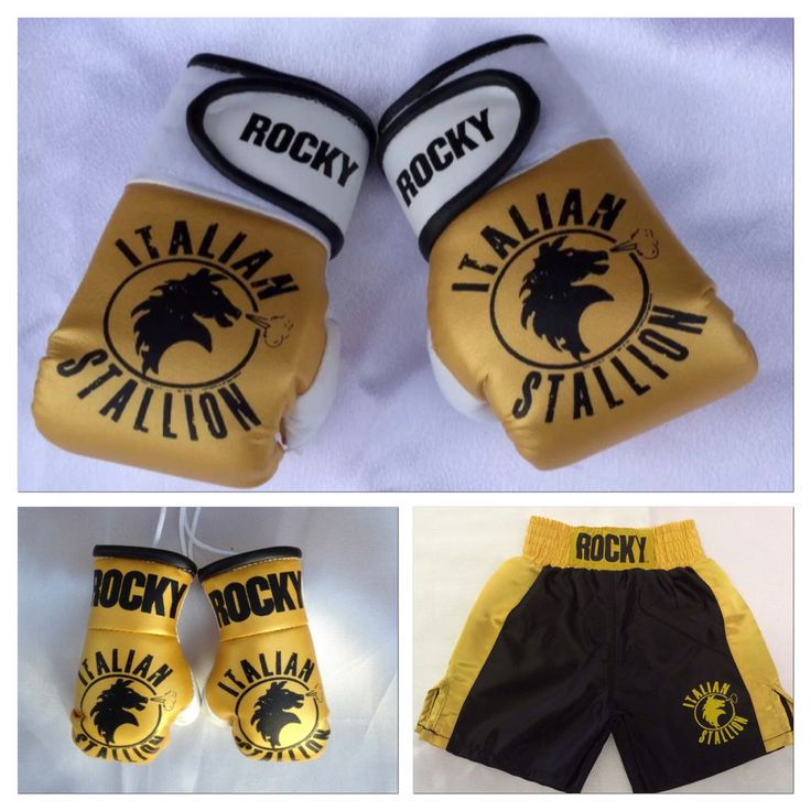 This is hilarious. ROCKY Baby Boxing Gloves & Boxing Trunk Combo