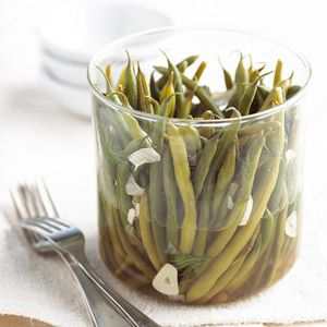 Pickled Dilled Green Beans There's no need to haul out the complicated canning equipment to create an easy version of dilly beans. This recipe keeps easily for two weeks in the refrigerator.