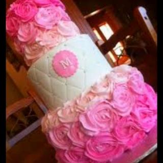 Princess Rosette Cake :)