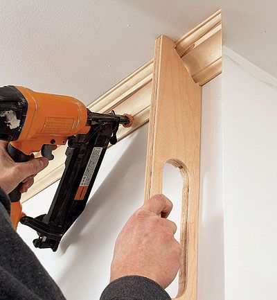 The secret to coping crown molding - Fine Homebuilding Article I found #woodworking tips here: http://woodworking-ideas.tk/ #WoodworkingPlans #WoodworkingTools