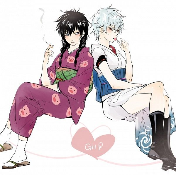 Tags: Anime, Feiqiuxuan, Gin Tama, Ginko (Gin Tama), Hijikata Toushirou, Sakata Gintoki, Lollipop