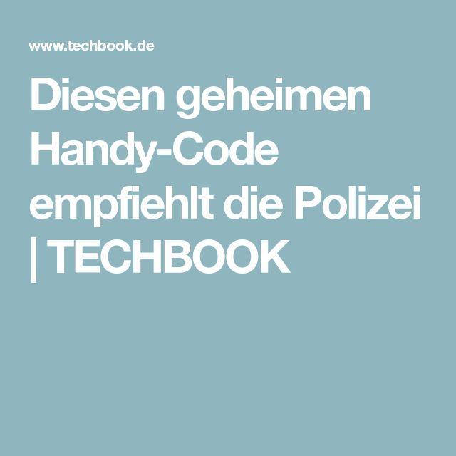 Diesen geheimen Handy-Code empfiehlt die Polizei | TECHBOOK