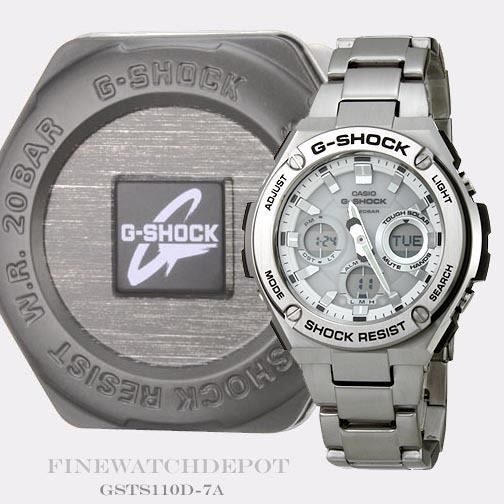 Other Watches 166739: Authentic Casio G-Shock G-Steel Tough Solar Analog Digital Watch Gsts110d-7A BUY IT NOW ONLY: $253.0