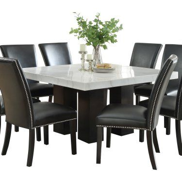 Steve Silver Co Camila Square Dining Table Square Dining Tables Dining Table 8 Seater Dining Table