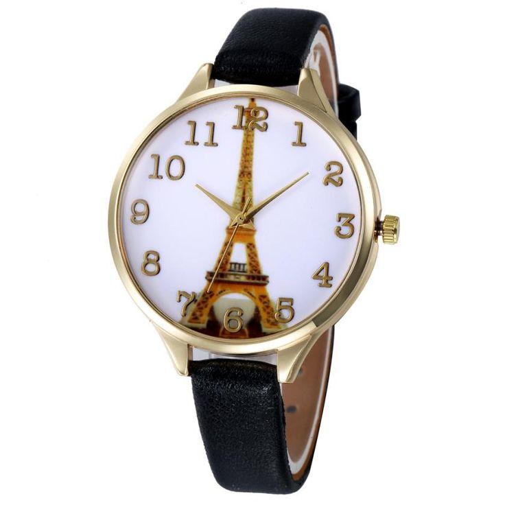 2017 Genvivia Watch Paris Eiffel Tower Women Faux Leather Analog Quartz Wrist Watch Waterproof Women watches //Price: $7.95 & FREE Shipping //     #hashtag2