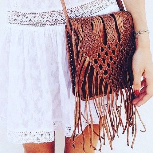 The OG of the bahati 'Beldi Bag'. A vintage bag like this was the inspiration for our fringe leather bag. Made by an artisan group in Morocco.
