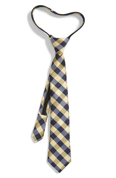 Nordstrom Buffalo Plaid Silk Zipper Tie (Big Boys) available at #Nordstrom