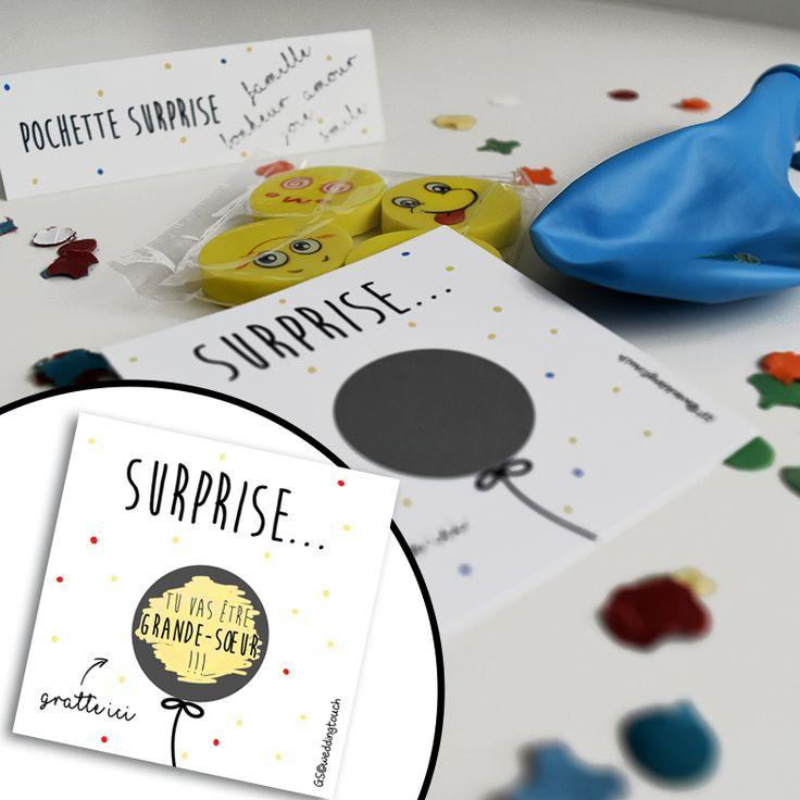 Pochette surprise : une idée de cadeau originale pour annoncer votre grossesse au futur grand-frère ou à la future grande-sœur !