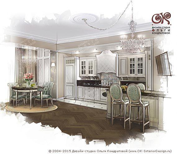 Дизайн кухни в современном стиле, фото интерьера 2015, современные идеи в дизайне кухни  http://www.ok-interiordesign.ru/ph17_kitchen_interior_design.php