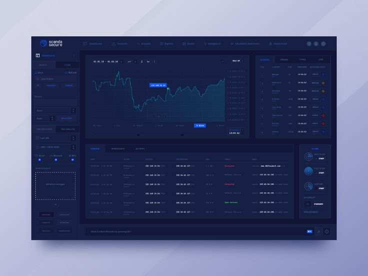 Cyber Security Dashboard Interface