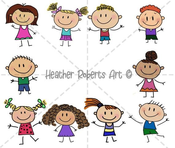 10 Pack Colored Stick Figures Stick Boy Clipart Stick Girl Etsy In 2020 Stick Figures Clip Art Kids Clipart