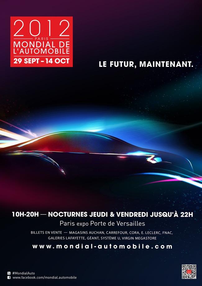 L'affiche officielle du Mondial de l'Automobile 2012 #MondialAuto