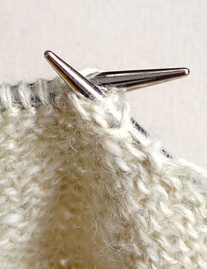 Purl 2 Together Through Back Loop (p2tog tbl)   The Purl Bee
