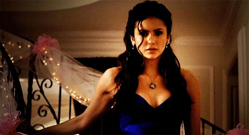 Pin for Later: 33 Delena GIFs That Prove Their Love Will Endure Forever When she comes down the stairs and he's waiting for her.