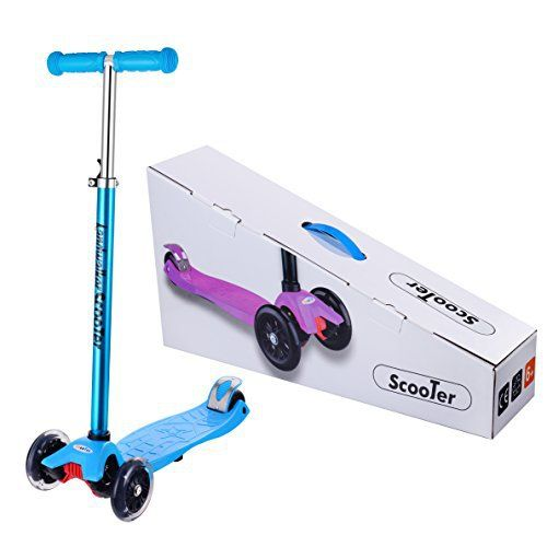 SPECIFICATION: Brand: Landwalker Type: Children Scooter Weight: 6.62 pounds Color: Rosy, blue Max weight limited: 220 lbs Brake: Rear-brake Wheel: 3-wheel design, PU wheels, two 4.68 inch front and one 3.12 inch back. Landwalker Brand: Landwalker work on designing and producing the best scooters... more details available at https://perfect-gifts.bestselleroutlets.com/gifts-for-teens/skates-skateboards-scooters/product-review-for-landwalker-scooter-with-3-led-wheels-for-childr