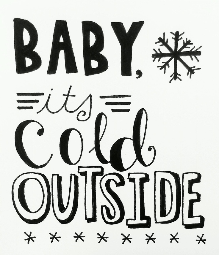 baby its cold outside ... it sure is at my house. What's your weather like outside your door?