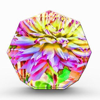 Digital Watercolor Dahlia Gift Acrylic Award