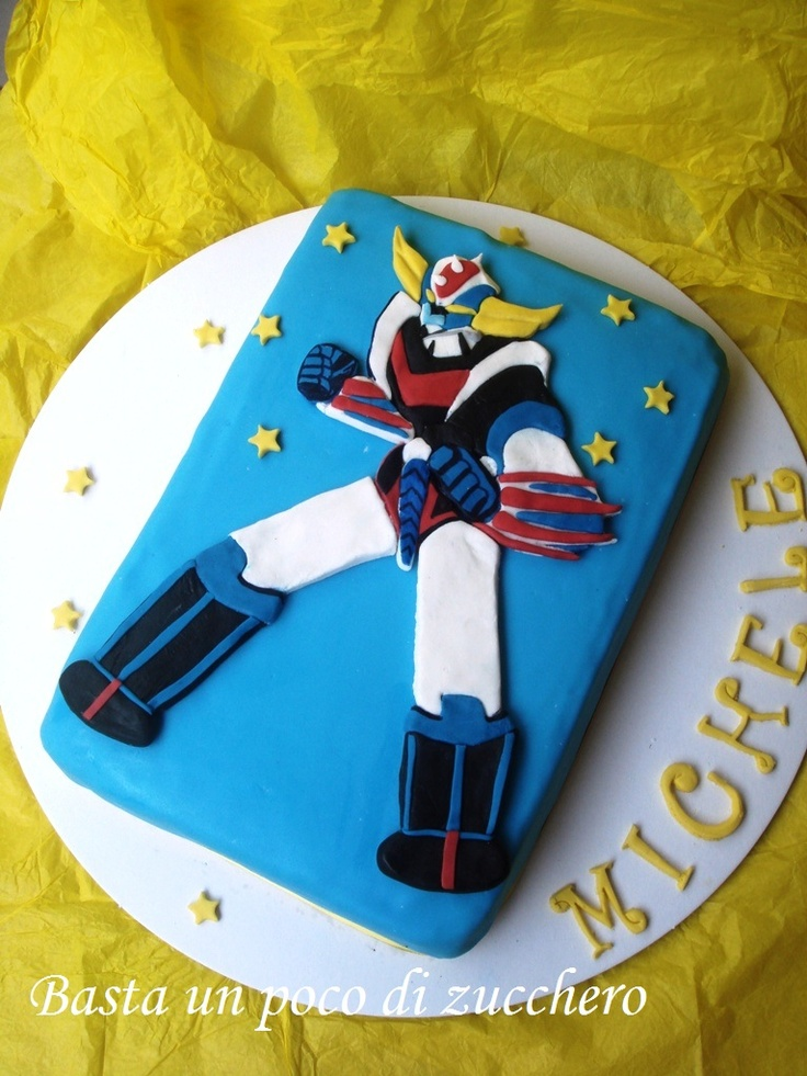 Goldrake cake https://www.facebook.com/pages/Basta-un-poco-di-zucchero/457345627755507