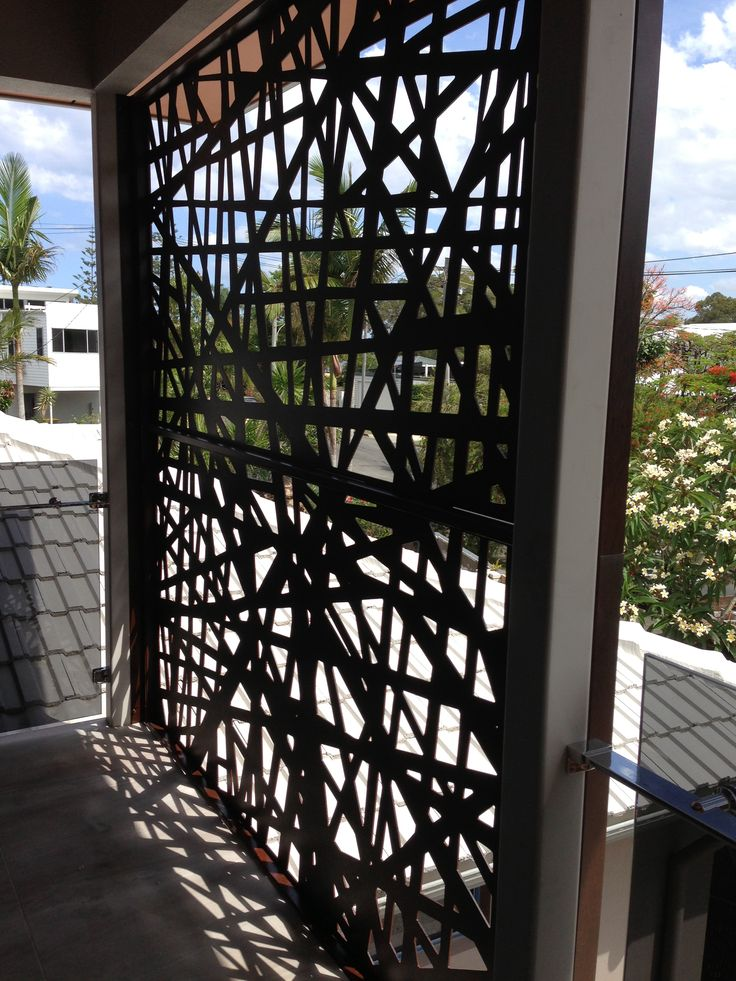 Balcony screens by Screen Art provide privacy and become a real feature.  http://www.screenart.net.au