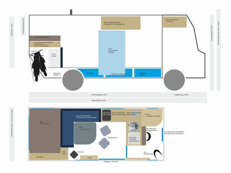 das perfekte autarke wohnmobil zum drin leben camper van ideas wohnmobil campingbus und. Black Bedroom Furniture Sets. Home Design Ideas