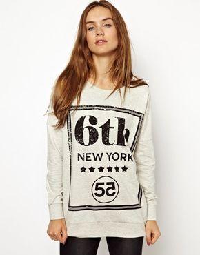 $25 J.D.Y 55 New York Sweatshirt  asos.com