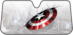 Captain America Shield Car Sun Shade - http://www.thlog.com/captain-america-shield-car-sun-shade/